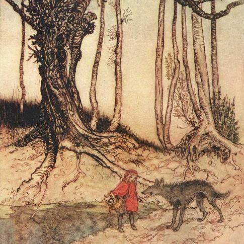 Arthur_Rackham_Little_Red_Riding_Hood_wikimedia commons_public domain_sq